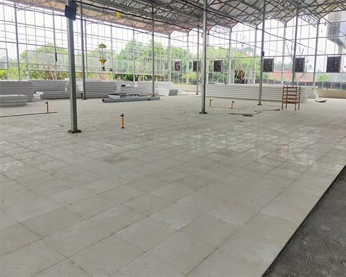 川茶集团园区车间pc砖地面